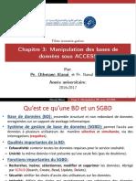 Cours Informatique de Gestion - Manipulation Access