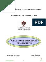 Guia do Observador Futebol FPF 2010