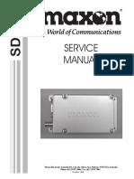 Rádio Maxon SD-125 - Manual de Serviço