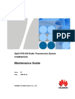 Maintenance Guide(V100R001C00 02)