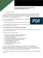 EDITAL PARA ENVIO E APRESENTAÇÃO DE ARTIGOS CIENTÍFICOS DO I CONGRESSO ECONOMIA UFSC 2018 (1)