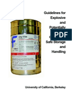 Guidelines for Explosive and Potentially Explosive Chemicals.