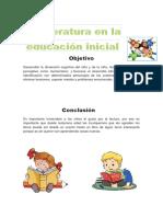 Literatura en La Educaion Inicial