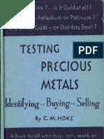 Testing Precious Metals C. M. Hoke Screen Readable.