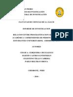 Relación Entre Procrastinación General y Académica y Dimensiones de Personalidad en Estudiantes Universitarios, Chimbote - 2016