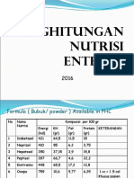 7. Penghitungan Nutrisi Enteral