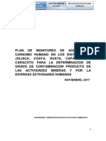 Plan de Monitoreo de Agua Para Consumo Humano en Los Distritos de Juliaca