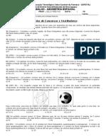 2.2 Lista-trabalho de Geometria Espacial 2º Bim