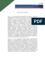 Constitución Política Art. 67 y 68