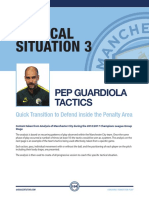 Pep Guardiloa Transition Attack to Defence Tactics Plus