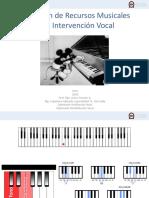 Clase III Aplicación Recursos Musicales en Intervención Vocal