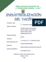 Industrialización Del Yacón
