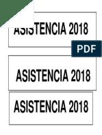 ASISTENCIA 2018