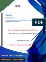 1z0-493 Dumps - Download Oracle Communications Management 1z0-493 Exam Questions.pdf