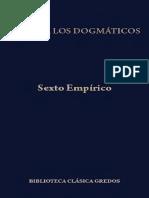 Contra los Dogmáticos - Sexto Empírico [Ed. Gredos, 2012]