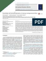 KBV-KM-Knowledge and Internationalization of Returnee Entrepreneurial Firms