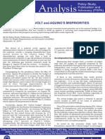CenPEG Issue Analysis Judicial Revolt & Aquino Budget Sept 16 2010