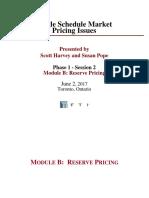 SSM 20170602 Module B Reserve Pricing