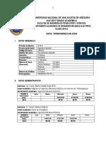 Termodinamica Aplicada 2018-A (Ing Industrial)