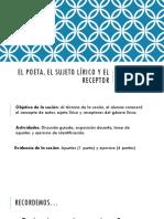 El Poeta El Sujeto Lc3adrico y El Receptor