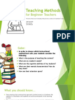teaching methods for beginning teachers