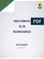 698 Marco Normativo de Los Recursos Hidricos - Boris Quezada (1)