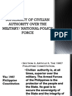 Supremacy of Civilian Authority Over the Military