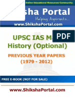 E Book IAS Main History Optional Papers Year 1779 2012