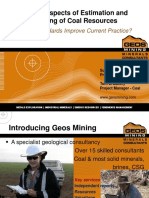 Estimation and Reporting of Coal Resources