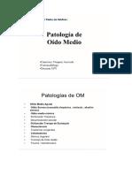 Clase 3° Patologia Oido Medio.