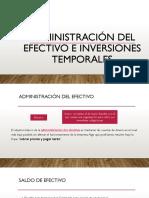 Administración Del Efectivo e Inversiones Temporales