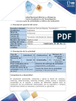 Guía de Actividades y Rúbrica de Evaluación Fase 6 - Evaluación Final