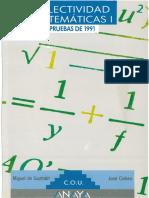 COU Selectividad Matemáticas I Pruebas 1991
