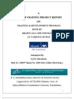 Training and Development in BHARTI AXA Life Insurance