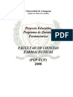 Proyecto Educativo Programa de Quimica Farmaceutica