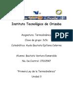 Primera Ley de La Termodinamica - Investigacion