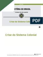 Historia - Crise Do Sistema Colonial