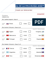 Calendario - Copa Mundial de La FIFA Rusia 2018