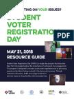 2018 StudentVoterRegistration Resource Guide