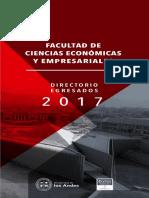 Directorio Ingeniería Comercia Universidad de Los Andes 2017 PDF
