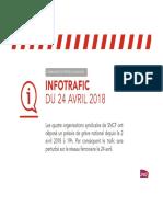 Prévisions SNCF 24 avril