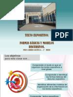 MODOS DE ORGANIZACION TEXTO EXPOSITIVO 2° MEDIO