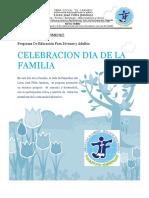 Formato Informe Día de La Familia