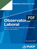 Informe Del Mercado Laboral de Ingeniería Mecatrónica