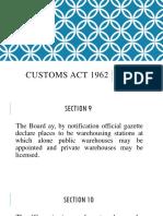 Customs Act 1962