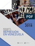 Informe Represion Marzo 2018