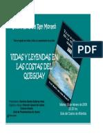 Invitación Vidas y Leyendas en Las Costas Del Queguay Jose Maria Del Rey