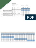 Cronograma de Actividades Instalacion de Rejas Item 19