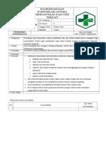 7.1.3.7 SOP Koordinasi Dan Komunikasi Antara Pendaftaran Dg Unit Terkait