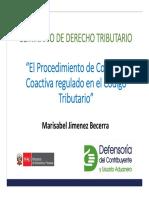 El procedimiento de cobranza coactiva regulado en el código tributario